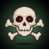Pixel skull and crossbones Stock Image