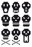 Pixel skulls,  Royalty Free Stock Photo