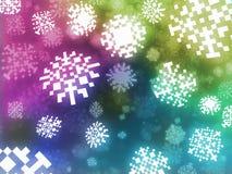 Pixel snowflakes background retro style illustration Royalty Free Stock Images