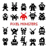 Pixel space monsters Stock Image