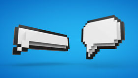Pixel speech bubble Stock Photo