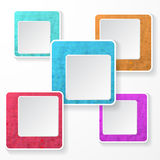 Pixel square element. Pixel square shape element  in gray background Stock Photography