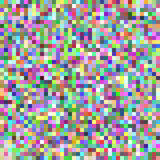 Pixel square tile mosaic background - geometric vector graphic from multicolored squares Stock Images