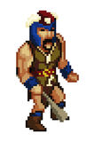 Pixel style game character vector Royalty Free Stock Image