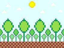 Pixel style nature background Stock Photo