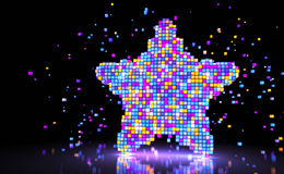 Pixel style star Stock Images