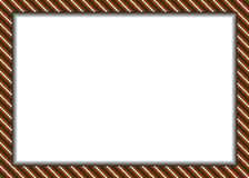 Pixel styled border (frame) in christmas colors Royalty Free Stock Photography