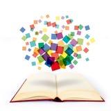 Pixel sul libro Fotografia Stock