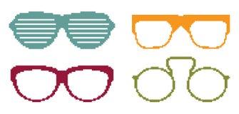 Pixel sun glasses set. Vector illustration of the Pixel sun glasses set Stock Photography