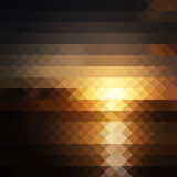 Pixel sunset Royalty Free Stock Photos