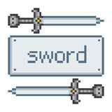 Pixel sword Royalty Free Stock Photo