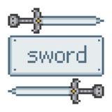 Pixel sword Royalty Free Stock Photo