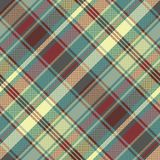 Pixel tartan check fabric texture seamless pattern. Vector illustration Stock Images