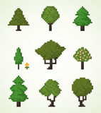 Pixel tree Royalty Free Stock Photo
