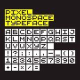Pixel Typeface Stock Photo