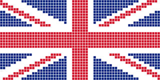 Pixel United Kingdom flag. Abstract vector illustration Royalty Free Stock Photo