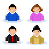 Pixel users Royalty Free Stock Photos