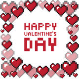 Pixel valentine's day background. Vector illustration royalty free illustration
