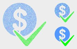 Pixel Vector Valid Dollar Coin Icons. Pixelated and mosaic valid dollar coin icons. Vector icon of valid dollar coin formed with scattered circle elements. Other royalty free illustration