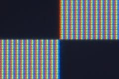 Pixel-vlak detail van het echte RGB LCD scherm Stock Afbeelding