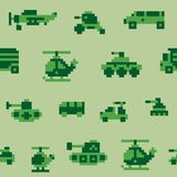 Pixel war pattern Royalty Free Stock Image