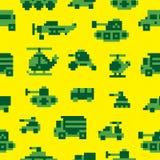 Pixel war seamless pattern Royalty Free Stock Image