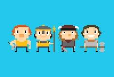 Pixel Warriors Royalty Free Stock Photos
