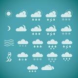 Pixel Weather Icons Stock Image