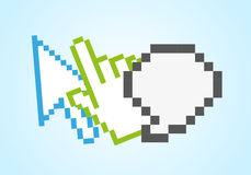 Pixel web icons Stock Images