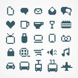 Pixel web icons collection. Royalty Free Stock Photography