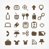 Pixel web icons collection. Royalty Free Stock Image