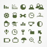 Pixel web icons Stock Photos