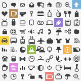 Pixel web icons collection Stock Photography