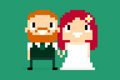 Pixel Wedding Stock Photos