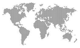 Pixel-Weltkarte Stockfotos