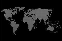 Pixel-Weltkarte-Vektor Stock Abbildung