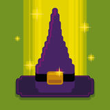 Pixel Witch Hat, Vector Illustration Stock Photo