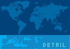 Pixel World Map. Background. Circle pixels Stock Image