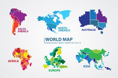 Pixel World map design Vector Royalty Free Stock Photography