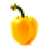 Pixel yellow bell pepper Stock Photos