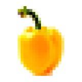 Pixel yellow bell pepper Stock Photos