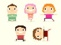 Pixel Yoga Stock Image
