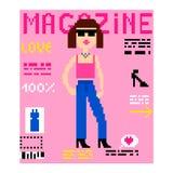Pixelabdeckungszeitschrift Vektor Abbildung