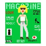 Pixelabdeckungszeitschrift Stock Abbildung