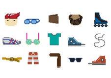 Pixelalltagsleben Stockbilder