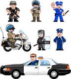 pixelart σύνολο αστυνομίας Στοκ εικόνες με δικαίωμα ελεύθερης χρήσης