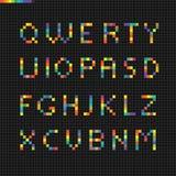 Pixelart geometric alphabet. Design elements Stock Photography
