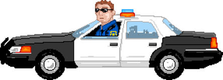 PixelArt: Police Car Stock Photography