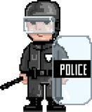 PixelArt: Police MAT Stock Photos
