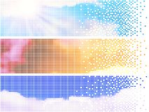 Pixelate sky banners Stock Photo